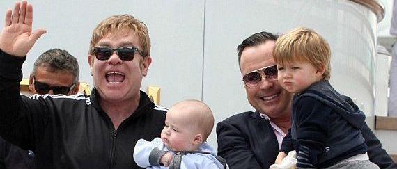 Hijos y marido de Elton John