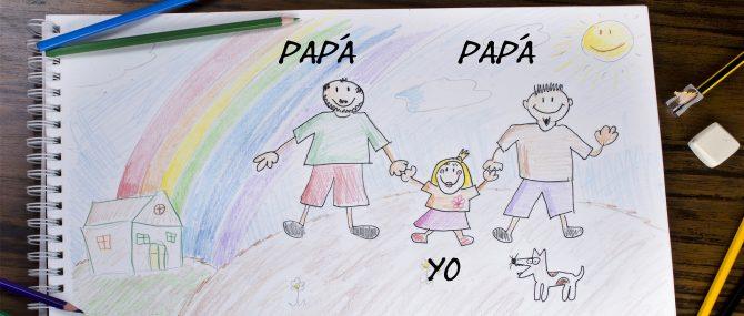 Niño con dos papás