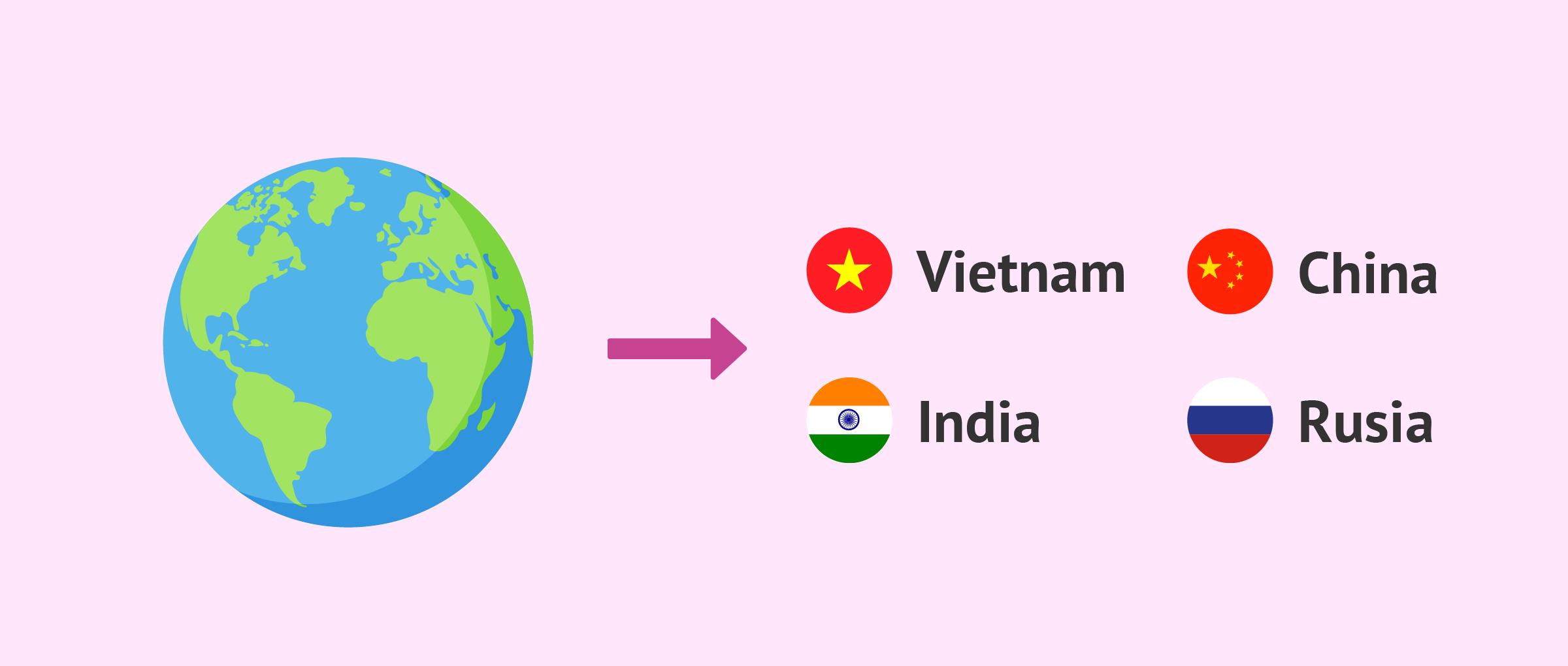 ¿En qué países es posible realizar una adopción internacional?